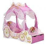 Someo Lit carrosse pour enfant Disney Princesse en bois (70 x 140 cm)