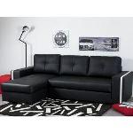 Canapé d'angle réversible et convertible Faro en simili cuir