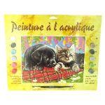 Oz international Peinture au numéro - Débutants : Comme chient et chat