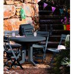 Grosfillex Vega - Table de jardin ronde en résine Ø98 x 72 cm