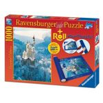 Ravensburger Château de Neuschwanstein en hiver + Tapis de puzzle - Puzzle 1000 pièces