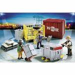 Playmobil 5259 City Action - Ouvriers avec marchandises
