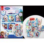 12 carrés d'azyme La Reine des Neiges pour cookies et cakes (7 cm)