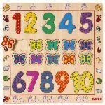 Djeco Puzzle à encastrer: Les chiffres de 1 à 10