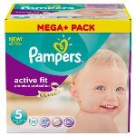 Pampers Active Fit taille 5 Junior (11-25 kg) - Pack Méga Plus 74 couches