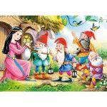 Castorland Blanche Neige et 4 nains - Mini puzzle 54 pièces