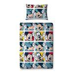 Mickey & Dingo - Housse de couette, couette, taie et oreiller (120 x 150 cm)
