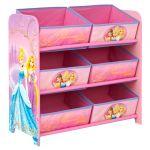 Worlds Apart Meuble de rangement 6 paniers Disney Princesses