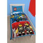 Lego Parure de lit Lego City Pompier Police réversible (140 x 200 cm)
