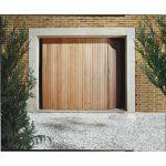 Ouest Fermeture Porte de garage coulissante en bois (200 x 240 cm)