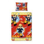 Character World Rotary Sam le Pompier - Housse de couette et taie (135 x 200 cm)