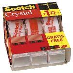Scotch 3 rouleaux de rubans adhésifs Cristal Clear 600 (19 mm x 7,5 m)