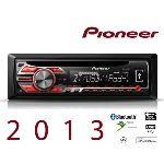 Pioneer DEH-4500BT - Autoradio CD/MP3 avec port USB et fonction iPod et Bluetooth (4 x 50 Watts)