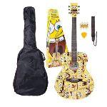 SBACOFT - Pack guitare acoustique Bob l'Éponge