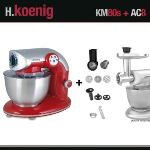 H.Koenig KM80 - Robot pétrin multifonctions avec accessoires
