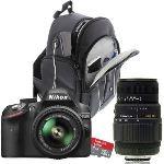 Nikon D3200 (avec 2 objectifs 18-55mm et 70-300mm)
