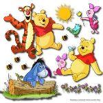 Stickers muraux 3D Winnie L'ourson