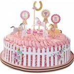Talking Tables 12 décorations pour gâteau Poney Club