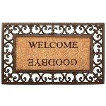 Esschert design Paillasson rectangulaire Welcome en caoutchouc et coco (44,5 x 75,5 cm)