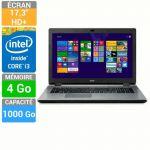 """Acer Aspire E5-771-385C - 17.3"""" avec Core i3-4005U 1.7 GHz"""