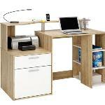 Bureau informatique Oscar avec 1 tiroir, 1porte et 1étagère