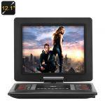 """High-Tech Place Lecteur DVD portable 12.1"""" rotatif 270 degrés"""