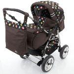 Lux4kids Icaddy - Poussette canne combinée 3 en 1 avec nacelle et siège auto cosy