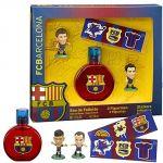 Coffret FC Barcelona : Eau de toilette, 2 figurines et stickers