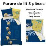 Cti Parure de lit 3 pièces Les Minions Oops (140 x 200 cm)