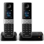 Philips D6352B/FR - Téléphone sans fil 2 combinés