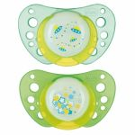 Chicco 2 sucettes Physio Air lumineuse en silicone (0 mois +)