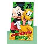 Serviette de bain / drap de plage Mickey et Pluto (70 x 140 cm)