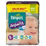 Pampers Active Fit taille 5 Junior (11-25 kg) - Format économique x 42 couches