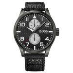 Hugo Boss 1513136 -  Montre pour homme avec bracelet en cuir