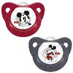 Nuk 2 sucettes physiologiques Mickey en silicone T2
