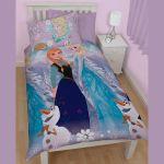 Character World La Reine des Neiges Elsa & Anna - Housse de couette et taie (135 x 200 cm)