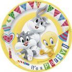10 assiettes carton Baby Looney Tunes