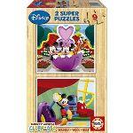 Educa Puzzle 2 x 9 pièces : Le club de Mickey