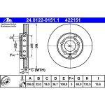 Ate 422151 - Jeu de 2 Disques de frein