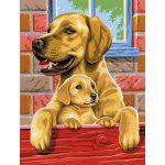 Oz international Peinture au numéro duo : Chiens (2 tableaux)
