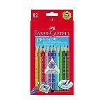 Faber-Castell Etui de 12 crayons de couleur Grip 2001 Jumbo