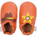 Bobux Soft sole Western orange - Chaussons cuir bébé