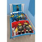 Lego City : Pompiers et Police - Housse de couette et taie (140 x 200 cm)