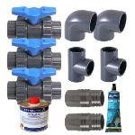Ubbink 7504640 - Kit By-pass pour pompe à chaleur de piscine