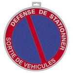 """Taliaplast 627212 - Panneau Ps choc """"défense de stationner sortie de véhicules"""" diamètre 180 mm"""