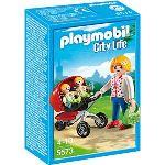 Playmobil 5573 City Life - Maman avec jumeaux et landau