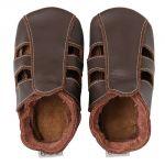 Bobux Soft sole Sandales marron - Chaussons cuir bébé
