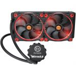 Thermaltake Water 3.0 Riing Red 280 - Kit de Watercooling pour processeur avec 2 ventilateurs PWM 140 mm