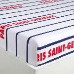 PSG - Drap housse 100% coton (90 x 190 cm)