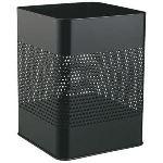 Durable 3321-01 - Corbeille à papier en acier carrée ajourée 18,5 L